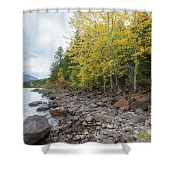 Shower Curtain featuring the photograph Lake Shore by Fran Riley