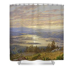 Lake Squam From Red Hill 1874 Shower Curtain