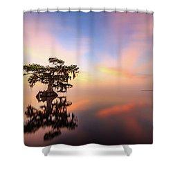 Lake Sunrise Shower Curtain
