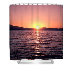 Lake Sunset 8pm Shower Curtain