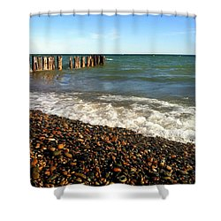 Lake Superior At Whitefish Point Shower Curtain