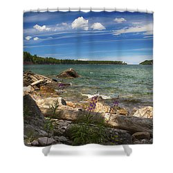 Lake Superior Shower Curtain by Dan Hefle