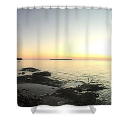 Lake Superior Evening Sky Shower Curtain