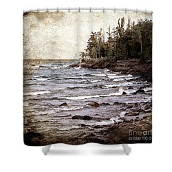 Lake Superior Waves Shower Curtain