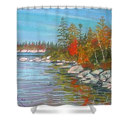 Lake Susie  Shower Curtain by Rae  Smith