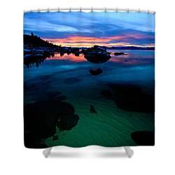 Lake Tahoe Clarity At Sundown Shower Curtain