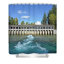 Lake Tahoe Dam Shower Curtain