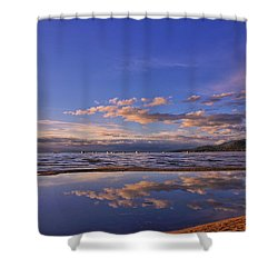 Lake Tahoe Evening Shower Curtain