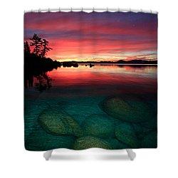 Lake Tahoe Jewels Shower Curtain