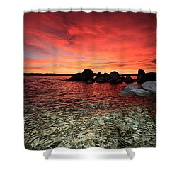 Lake Tahoe Liquid Dreams Shower Curtain