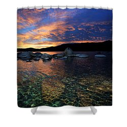 Lake Tahoe Sundown Shower Curtain