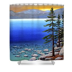 Lake Tahoe Sunrise Shower Curtain