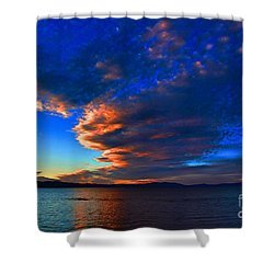 Lake Tahoe Sunset Shower Curtain