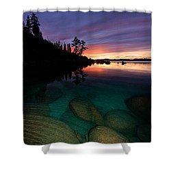 Lake Tahoe Sunset Portrait Shower Curtain