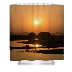 Lake Taungthaman Shower Curtain