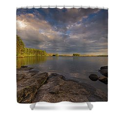 Lake Three Shower Curtain