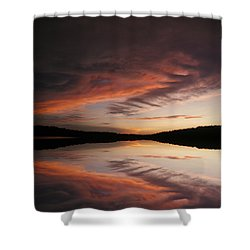 Shower Curtain featuring the photograph Lake Thunderbird Sunset by Rick Friedle