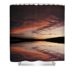Lake Thunderbird Sunset Shower Curtain