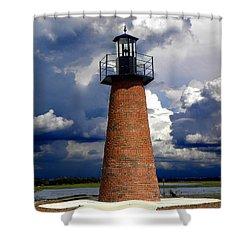 Lake Toho Lighthouse 002  Shower Curtain