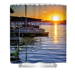 Shower Curtain featuring the photograph Lake Travis by Walt Foegelle