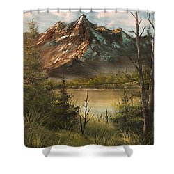 Lake View Mountain  Shower Curtain