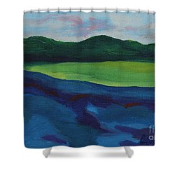 Lake Visit Shower Curtain