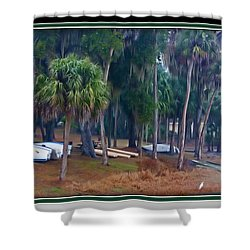 Lake Wauburg Rain Shower Curtain