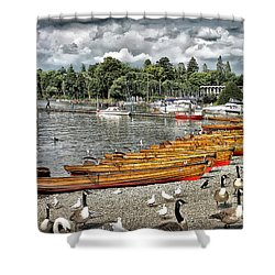 Shower Curtain featuring the photograph Lake Windamere by Walt Foegelle