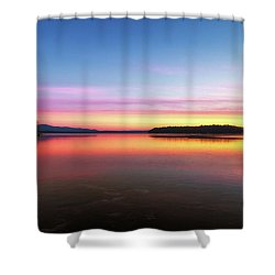 Lake Winnipesaukee Reflections Shower Curtain