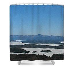 Lake Winnipesaukee View From Mt. Major Shower Curtain by Michael Mooney