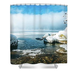 Shower Curtain featuring the photograph Lake Winnisquam by Robert Clifford
