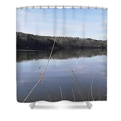 Lake Zwerner Early Spring Shower Curtain