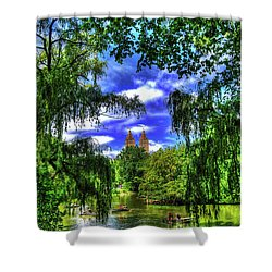 Lakeboat In Central Park Too Shower Curtain by Randy Aveille