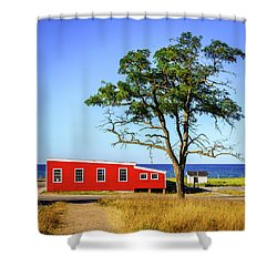 Shower Curtain featuring the photograph Lakefront In Glen Arbor by Alexey Stiop