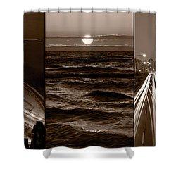 Lakeshore Chicago Shower Curtain by Steve Gadomski