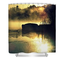 Shower Curtain featuring the photograph Lakeshore by France Laliberte