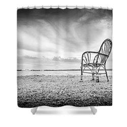Lakeside Chair. Shower Curtain
