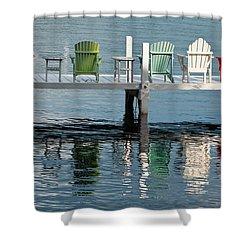 Lakeside Living Shower Curtain by Steve Gadomski