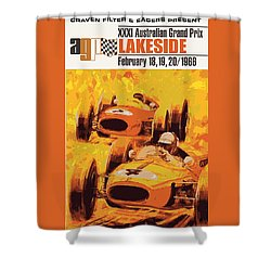Lakeside Racing Shower Curtain