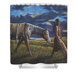 Lakota Sunrise Shower Curtain