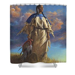 Lakota Woman Shower Curtain