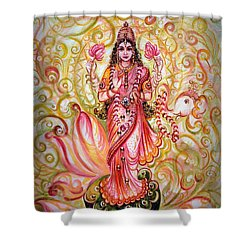 Lakshmi Darshanam Shower Curtain by Harsh Malik
