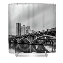 Lamar Bridge In Austin, Texas Shower Curtain