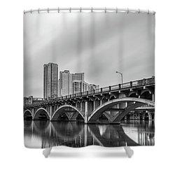 Shower Curtain featuring the photograph Lamar Bridge In Austin, Texas by Todd Aaron