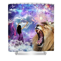 Lamb Of God Shower Curtain by Dolores Develde