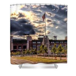 Lambeau Field Awakes Shower Curtain by Joel Witmeyer