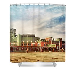 Shower Curtain featuring the photograph Lambeau Field Retro Feel by Joel Witmeyer