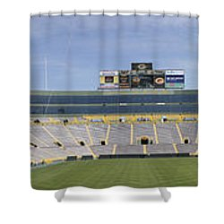 Shower Curtain featuring the photograph Lambeau Field Staduim  by Ricky L Jones