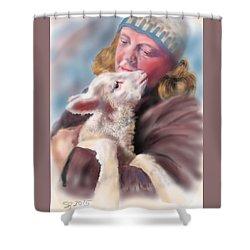 Lambie Love Shower Curtain