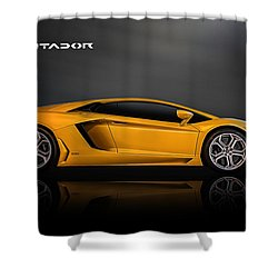 Lamborghini Aventador Shower Curtain